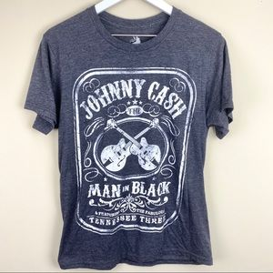 Zion Rootswear Johnny Cash Distressed graphic tee